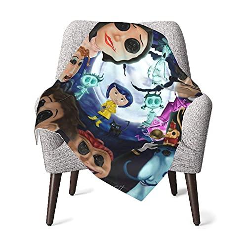 LFLLFLLFL Mantas de bebé, Mantas de bebé para niños y niñas. Coraline Morbida Manta de Felpa, Manta de 30 x 40 Pulgadas