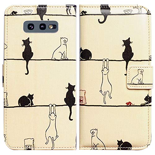 Galaxy S10e Wallet Case,Bcov Black Cat White Cat Flip Leather Case Wallet Cover with Credit Card Slot ID Card Holder Kickstand for Samsung Galaxy S10e