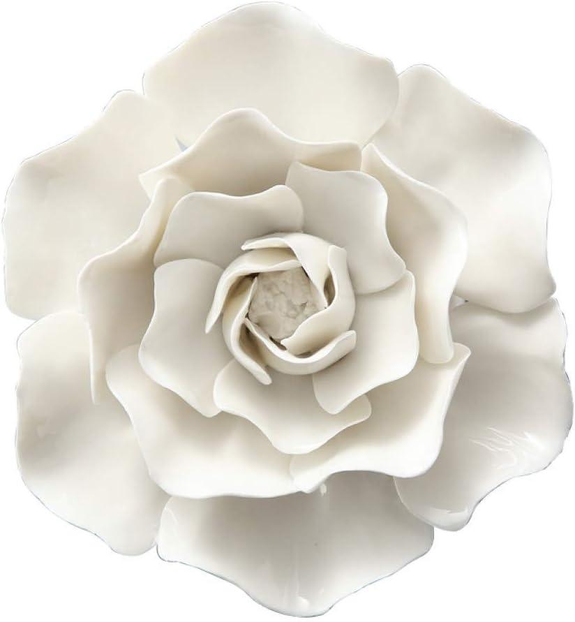 BERTERI White Ceramic Flower for Peo 3D Wall Creative 百貨店 大注目 Decoration