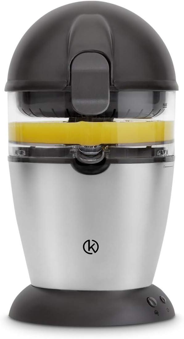 Exprimidor de zumo completamente automatico | Exprimidor Electrico de naranjas, Limones, Cítricos | 400 ml | Acero Inoxidable + livre de recettes