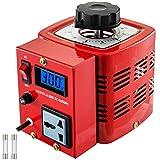VEVOR Convertidor de Voltaje 1 Fase 0.5 KW 0-300 V Transformador de Potencia Regulador de Voltaje Rojo con Pantalla LCD