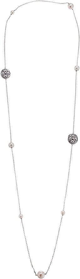 Majorica - 6,8,10, and 12mm Round Sterling Silver Necklace 39