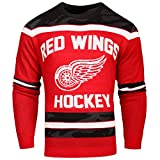 NHL Detroit Red Wings Uglyグローin theダークセーター、スモール