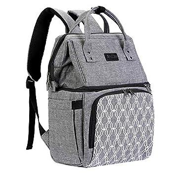AmHoo Sac à dos isotherme, étanche, anti-fuite, sac à lunch pour hommes et femmes Pour randonnée, plage, pique-nique, voyage Avec fermeture éclair YKK la plus résistante gris