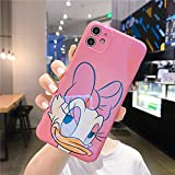 Cartoon Daisy Duck for iPhone 11 Case, Cute Case for iPhone 11, Fashion Cool Blue Light Design Soft Silicone Shockproof Protective Cover for Girls Women