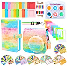 Sunmns Camera Accessories Bundle Kit Set Compatible with Fujifilm Instax Mini 9, Accessory Include Case, Album, Film Stickers, Desk Frames, Hanging Frame, Filters, Strap (Rainbow)