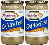 Manischewitz Gefilte Fish in Liquid Broth (Kosher For Passover), 24 oz, 2 pk