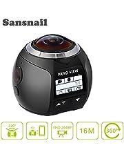 Sansnail V1 360 graden Actie Camera Panoramisch 2448 * 2448 30fps Ultra HD Video waterdichte Camera Deportiva 4 k Wifi Sport Cam Rijden VR Camera