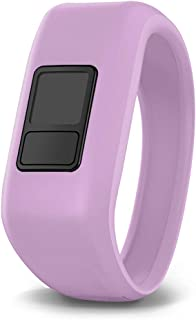 iBREK for Garmin Vivofit jr/jr 2/3 Bands, Silicon Stretchy Replacement Watch Bands for Kids Boys Girls Small Large(No Tracker)-Small,Lavender