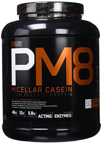 Starlabs Nutrition PM8, 100% Caseína Micelar, Chocolate - 1800 g