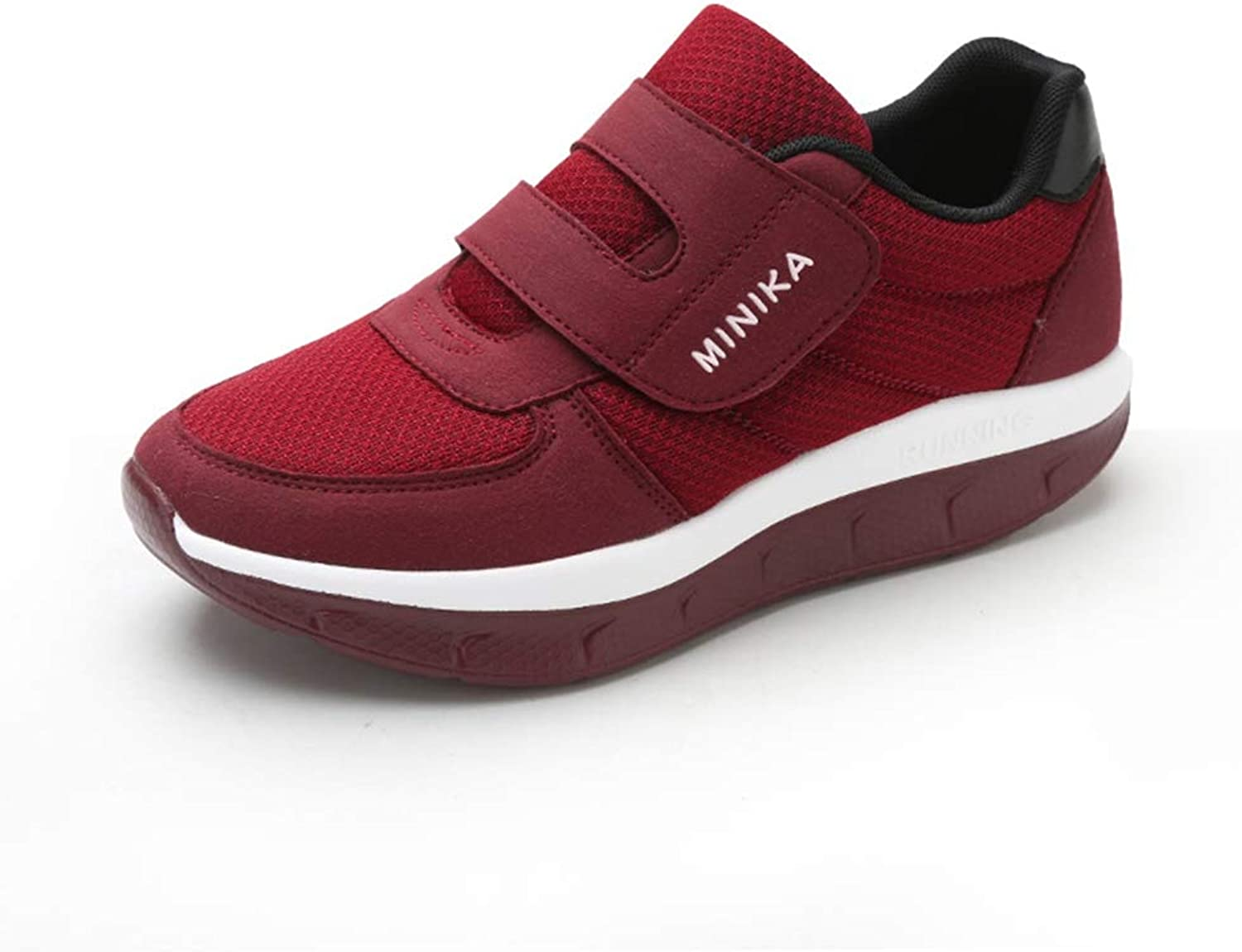 ASO-SLING Women's Wedge Sneakers Platform Toning Fitness shoes Slimming Sneakers Lightweight Swing shoes