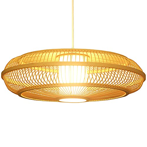 LIWENGZ Chino Jardín Dormitorio Balcón Hotel Bamboo Art Lamp Nordic Simple Restaurant Chandelier E27 Portalámparas Lámpara Individual Ajustable Chandelier