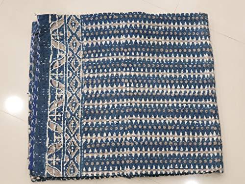 HomeDecorShopieVintage Kantha edredón Ropa de Cama de algodón Colcha Bohemia Gudari Manta de Cama Interior decoración del hogar Regalo Manta Cosida Kantha