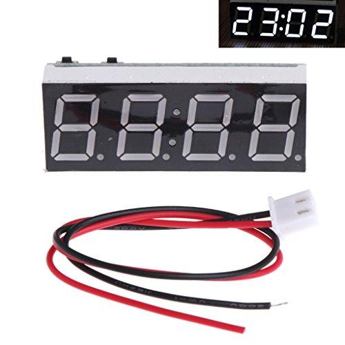 KOBI 12V 5-24V Electronic Voltmeter Thermometer Clock for Car Auto LED Monitor Module