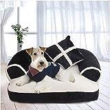 Palm kloset caseta perro Mascota blanco y negro mascota jerarquía 60x40cm gato perro cama suave algodón sofá almohada cojín pp algodón removible lavado descanso dormir rejilla cuatro temporadas univer