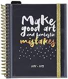 Grupo Erik Editores - Agenda escolar  GLITTER 2018/2019 Semana vista, 15,5 x 19 cm