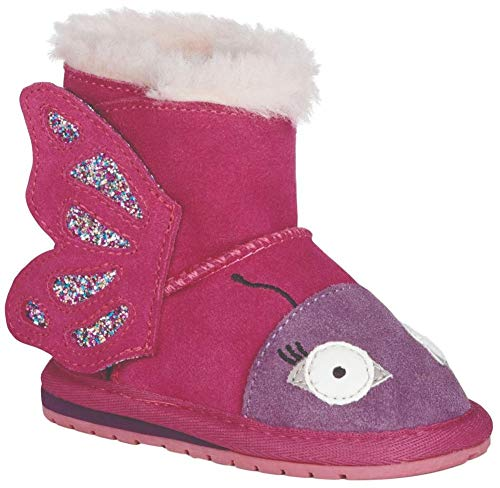 EMU Australia Butterfly Walker Boot - Kid's Deep Pink 18 Months