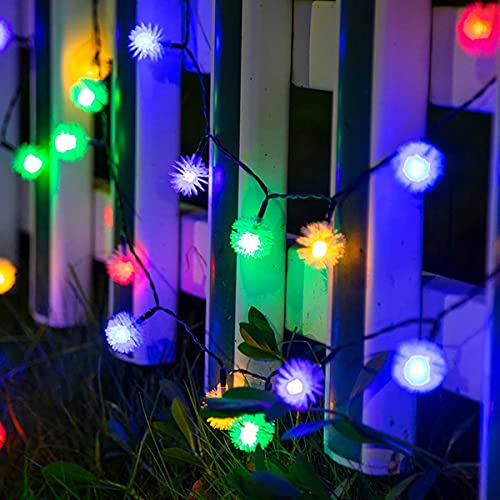 Guirnaldas Luces Exterior Solar Luces de Cadena Solar a Prueba de Agua, 8 Modos, para árboles, Jardines Interiores, terrazas, Patios, Salas de reuniones, Fiestas Luces Exterior