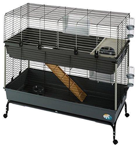 Cage à deux étages pour petit animal domestique 120 cm