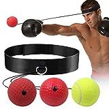 GLKEBY Boxing Reflex Ball, Pallone da Boxe, MMA Speed Training per Adulti/Bambini, Le Migliori Attrezzature da Boxe per Allenamento, coordinazione Occhio-Mano e Fitness