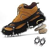 WXBXIEJIA Steigeisen Anti-Rutschen Eisspikes, Anti Rutsch Schuhspikes, Einfache Steigeisen, Klettern Non-Slip Schuh Steigeisenblack-Crampons