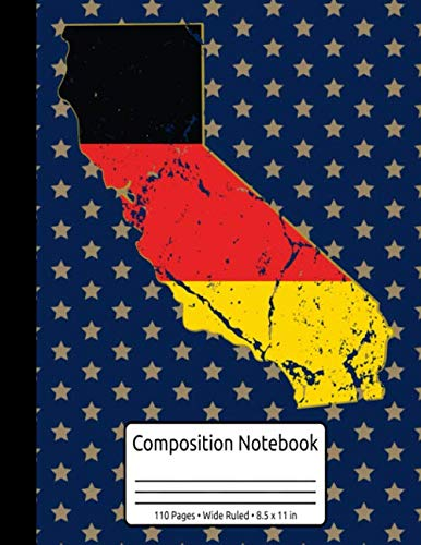 California Germany Journal German Composition Notebook 110 Pages Wide Ruled 8.5 x 11 in: Oktoberfest Pretzel & Beer Journal