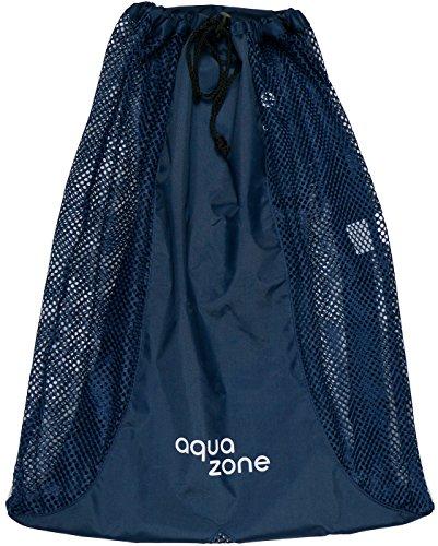 Zaino in rete per attrezzature sportive con cordino, per nuoto, spiaggia, immersioni, viaggi, palestra (navy)