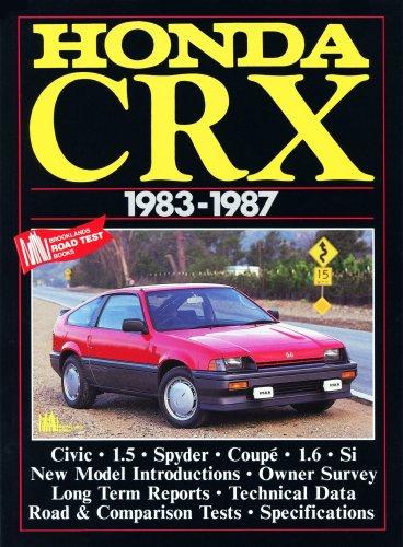 Honda CRX, 1983-87 (Brooklands Books Road Tests Series)