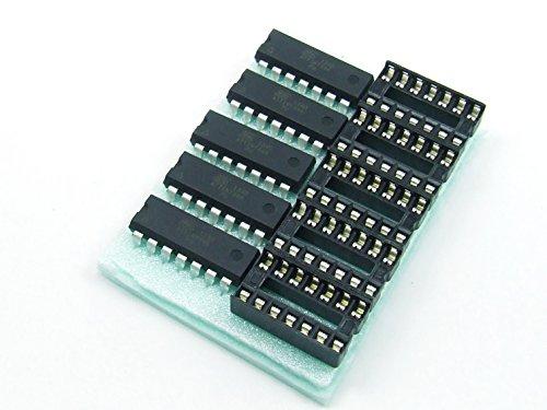 Just-Honest POPESQ® 5 STK. / pcs. x ATTINY44A-PU mit/with 5 x DIP14 MCU ATMEL AVR Arduino kompatibel/Compatible #A291