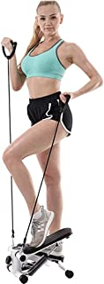 ZJB Household Mute Stepper with Resistance Bands,Adjustable Mini Steppers for Exercise,Portable Twist Stair Stepper for Beginners and Professionals,Multi-Function Pedal Fitness Equipment for Indoor
