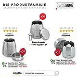 SWISSHOME - Großer XL Aschenbecher mit Deckel für Drinnen und Draußen inkl. Taschenaschenbecher - Das Original - 5
