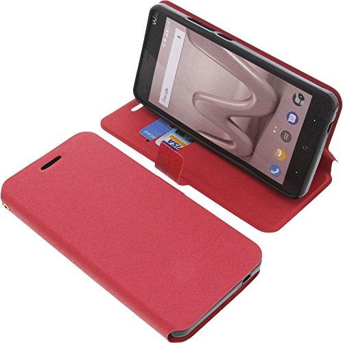 Tasche für Wiko Lenny 4 Plus Book Style rot Schutz Hülle Buch