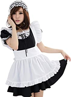 YOMORIO Lolita Cute Maid Cosplay Costume Japanese Anime Outfit Halloween French Maiden Uniform