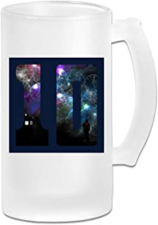 Printed 16oz Frosted Glass Beer Stein Mug Cup - The 10th Doctor Who David Tennant - Graphic Mug