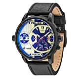 Police Herren Multi Zifferblatt Quarz Uhr mit Leder Armband PL14833JSB.04