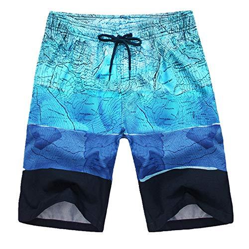 N\P Pantalones cortos de los Hombres Casual 5 Puntos Grandes Calzoncillos Verano engordar Oversize Suelto Secado Rápido Pantalones de Playa