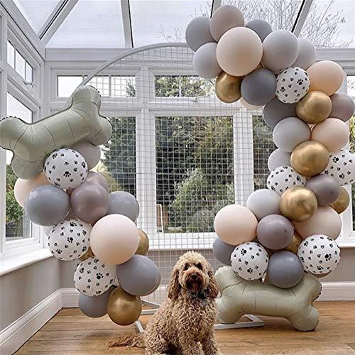 ZTTT 54pcs / Lot admiten la Pata del Perro Fiesta de cumpleaños de Animales Globos de látex Decoración Helio Globos Suministros para niños Juguetes Pelota Inflable Ballons