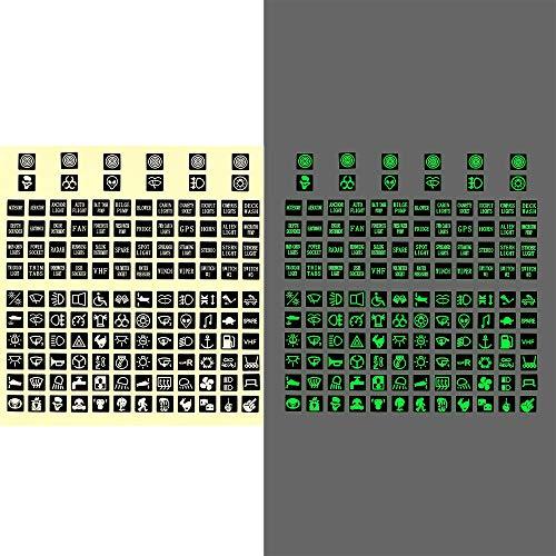 LKW Instrument Dekoration Schaltung Panel Aufkleber Wippschalter Label PVC leuchtenden Auto Aufkleber