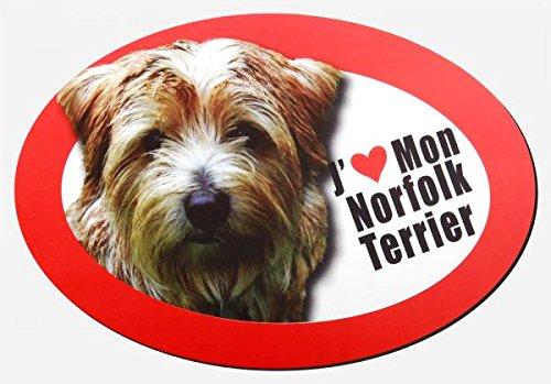 magnet j'aime mon norfolk terrier