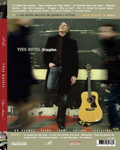 Yves Duteil - Sans attendre/(fr)agiles (Partitions piano voix guitare)