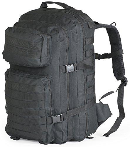Nitehawk Military Army Patrol MOLLE Assault Pack Rucksack Backpack Tactical Combat Bag 40L Black