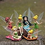 feiren 6pcs/Set de Navidad Niños Regalo Campanilla Muñecas Volando Flor Hada Niños Animación de Dibujos Animados Juguetes Niñas Bebé Juguete Yoda