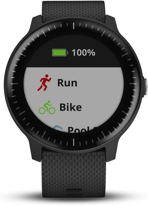 Garmin vívoactive 3 Music, GPS Smartwatch with Music Storage, Supports Spotify - Black (Renewed)
