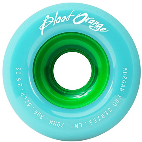 Blood Orange Morgan Pro Series Freeride Longboard Wheel [All Durometers & Colors] (80a - Seafoam, 70mm)