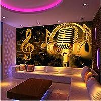 壁飾り画 3Dマイク壁画Ktvバー背景壁の装飾壁紙-150X120Cm