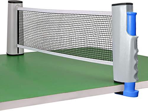 Eyscoco Tischtennisnetze, Tischtennisnetze Justierbarer Einziehbares Netz Tischtennis Ersatznetz, Beweglicher Reisehalter, für alle Tischtennisplatten Einstellbare Länge 170 (Max) x 14,5cm