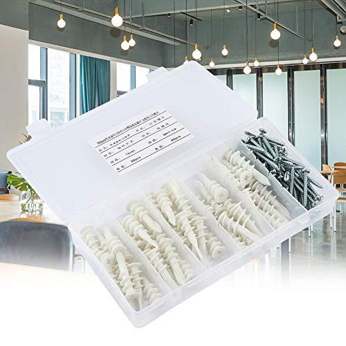 50 * plug ankerpijpschroeven + 50 * 1-1/4 `` zelftappende schroeven, schroeven voor muurschroeven, zinklegering, nylon, op grote schaal gebruikt in betonnen ingebedde bewerkingen, vliesgevel bouwen