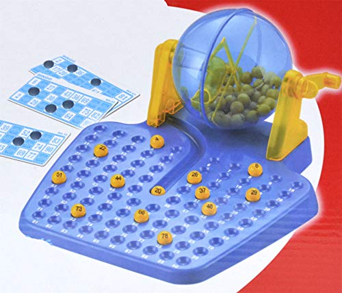 SHINE Bingo 90 Zahlenspiel Familienspiel 2 Spieler mit 48 Karten Traditionelles Bingospiel