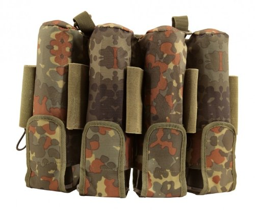 9 Pot (inkl. 5 Loops) pt-field Rebel Pack Flecktarn Molle camo unisize