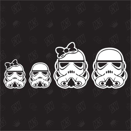 Star Wars Family with 1 girl + 1 boy - Sticker